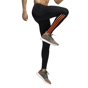 Pant Running Uomo Adidas Run 3 Stripes Tights  Solred EI5724