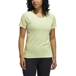 Women's Running T-Shirts adidas 25/7 Rise Up N Run Parley TShirt  Yellow Tint FL5972
