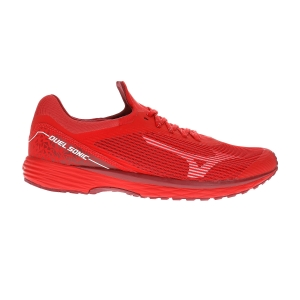 Men's Performance Running Shoes Mizuno Duel Sonic  High Risk Red/Biking Red U1GD203456