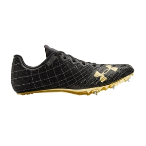 Zapatillas Competición Hombre Under Armour Sprint Pro 3  Black/Jet Gray/Metallic Victory Gold 30225160003