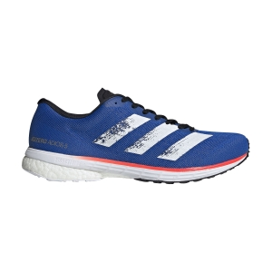 Scarpe Running Performance Uomo Adidas Adizero Adios 5  Glory Blue/Ftwr White/Solar Red EG1197