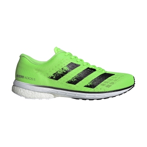 Men's Performance Running Shoes Adidas Adizero Adios 5  Signal Green/Core Black/Ftwr White EG1198