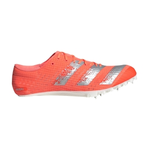 Men's Race Running Shoes Adidas Adizero Finesse  Signal Coral/Silver Met./Ftwr White EE4598