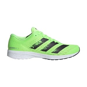 Men's Race Running Shoes Adidas Adizero RC 2  Signal Green/Core Black/Ftwr White EH3136