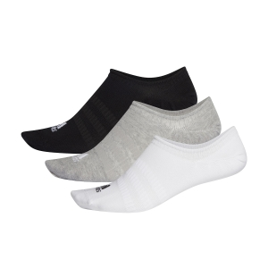 Calze Running Adidas Light NoShow x 3 Calze  Medium Grey Heather/White/Black DZ9414