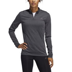 Maglia Running Donna Adidas Own The Run Half Zip Maglia  Grey Six FL7812
