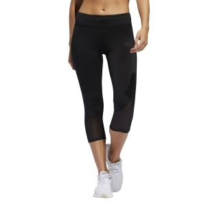 Tight Running Donna Adidas Own The Run Reflective 3/4 Tights  Black FL7804