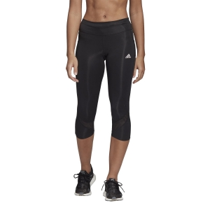 Women's Running Tight Adidas Own The Run 3/4 Tights  Black FS9833