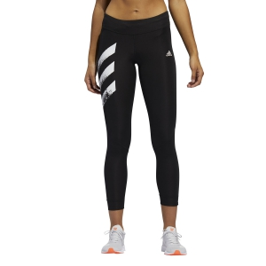 Women's Running Tight Adidas Own The Run 3 Stripes Tights  Black FP7539