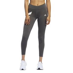 Women's Running Tight Adidas Own The Run 3 Stripes Tights  Grey Six FQ2452