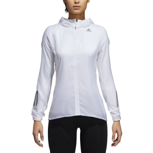 Women's Running Jacket Adidas Own The Run Jacket  White DN8765