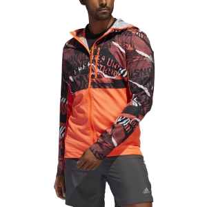Men's Running Jacket Adidas Own The Run Graphic Jacket  Solar Red/Glory Red/Black FL6988
