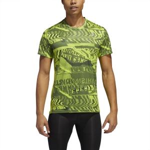 Adidas Own The Run Graphic T-Shirt - Semi Solar Slime/Legacy Blue