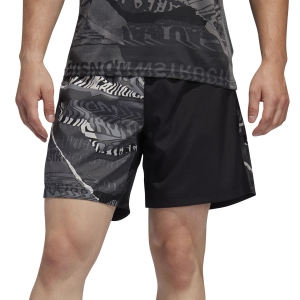 Men's Running Short Adidas Own The Run Graphic 5in Shorts  Black/Grey One F17/Grey Six ED92835in