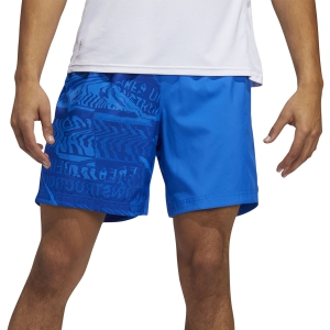 Men's Running Short Adidas Own The Run Graphic 5in Shorts  Glory Blue/Team Royal Blue FL69895in