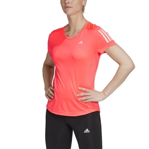 Women's Running T-Shirts adidas Own The Run Logo TShirt  Signal Pink FT2404