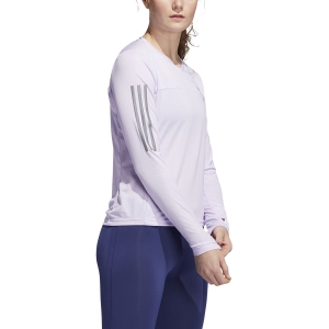 Women's Running Shirt Adidas Own The Run Shirt  Purple Tint FL7266