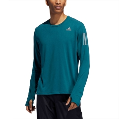 Adidas Own The Run 3 Stripes Shirt - Tech Mineral