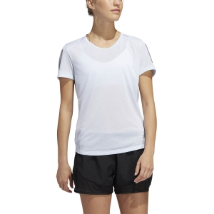 Women's Running T-Shirts adidas Own The Run Logo TShirt  Sky Tint FM5811