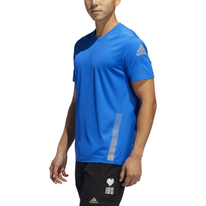 Camisetas Running Hombre Adidas Rise Up N Run Camiseta  Glory Blue FL6814