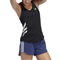 Adidas Run It 3 Stripes Canotta - Black