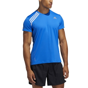 Men's Running T-Shirt Adidas Run It 3 Stripes TShirt  Glory Blue/White FK1594