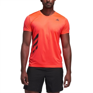 Adidas 3 Stripes T-Shirt - Solar Red