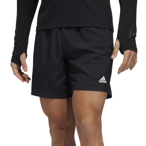 Men's Running Short adidas Run It 3 Stripes 7in Shorts  Black FP75417in