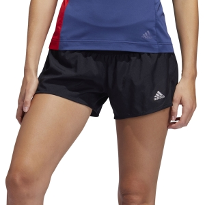 Pantaloncini Running Donna Adidas Run It 3 Stripes 4in Pantaloncini  Black FP7537