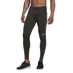 Men's Running Tights Adidas Saturday COLD.RDY Tights  Legend Earth FM7627