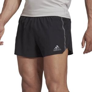 adidas Saturday Split 3in Shorts - Black/Grey Six