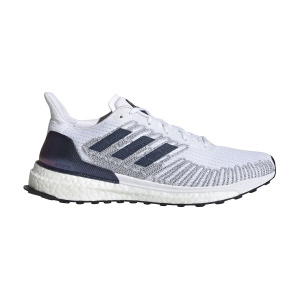 Woman's Structured Running Shoes Adidas Solarboost ST 19 ISS National Lab Edition  Ftwr White/Tech Indigo/Solar Red EG2359