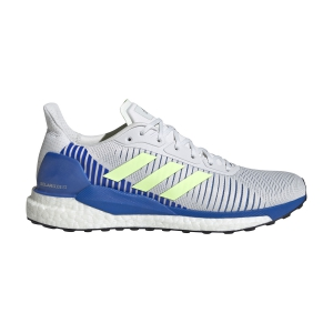 Men's Structured Running Shoes Adidas Solar Glide ST 19  Crystal White/Signal Green/Glory Blue EE4291