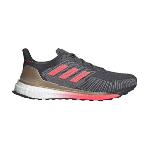 Men's Structured Running Shoes Adidas Solarboost ST 19  Grey Five/Signal Pink/Copper Met FW7811