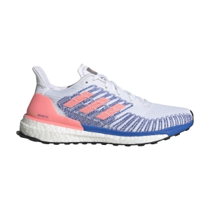 Scarpe Running Stabili Donna Adidas Solarboost ST 19  Ftwr White/Light Flash Red/Glory Blue EE4322