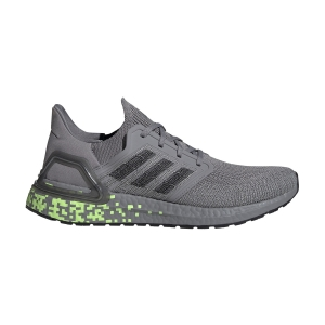 Scarpe Running Neutre Uomo Adidas Ultraboost 20  Grey Three F17/Core Black/Signal Green EG0705