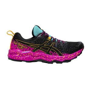 Women's Trail Running Shoes Asics Fujitrabuco Lyte  Black/Pink Glo 1012A599001