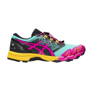 Women's Trail Running Shoes Asics Fujitrabuco Sky  Sea Glass/Pink Glo 1012A770300