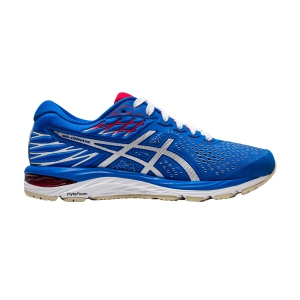 Women's Neutral Running Shoes Asics Gel Cumulus 21 Retro Tokyo  Electric Blue/White 1012A669400