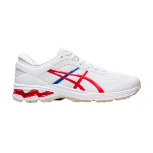 Men's Structured Running Shoes Asics Gel Kayano 26 Retro Tokyo  White/Classic Red 1011A771100