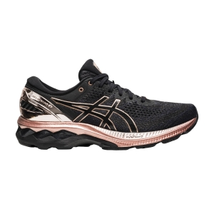 Zapatillas Running Estables Mujer Asics Gel Kayano 27 Platinum  Black/Rose Gold 1012B015001