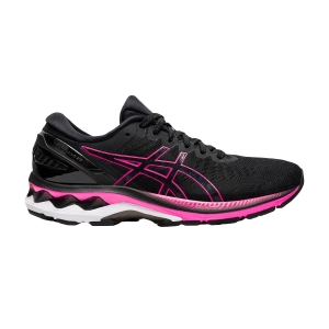 Woman's Structured Running Shoes Asics Gel Kayano 27  Black/Pink Glo 1012A649003