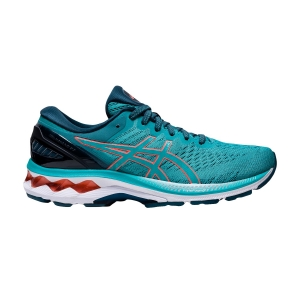 Woman's Structured Running Shoes Asics Gel Kayano 27  Techno Cyan/Sunrise Red 1012A649300