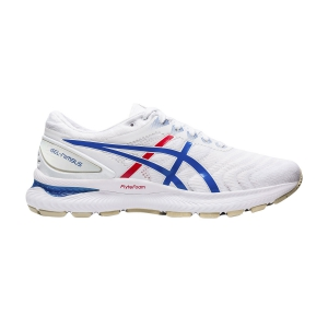Women's Neutral Running Shoes Asics Gel Nimbus 22 Retro Tokyo  White/Electric Blue 1012A665100
