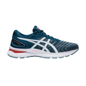 Scarpe Running Neutre Uomo Asics Gel Nimbus 22  Light Steel/Magnetic Blu 1011A680404