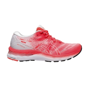 Women's Neutral Running Shoes Asics Gel Nimbus 23 Tokyo  White/Sunrise Red 1012B140600