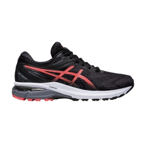 Woman's Structured Running Shoes Asics GT 2000 8  Black/Sunrise Red 1012A591008