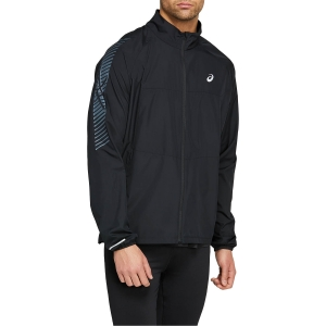 Men's Running Jacket Asics Icon Jacket  Performance Black/Carrier Grey 2011B051001