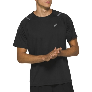 Men's Running T-Shirt Asics Icon TShirt  Performance Black 2011A981003