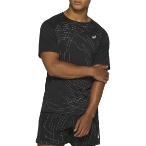 Men's Running T-Shirt Asics Night Track TShirt  Night Track/Black Aop 2011A816002